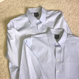 2 Jos A Bank traveler's collection shirts
